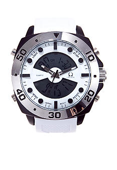 Legion White Rubber Strap Watch