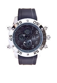 Legion Black Rubber Strap Watch