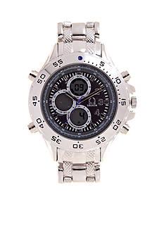 Legion Silver-Tone Multifunction Link Watch