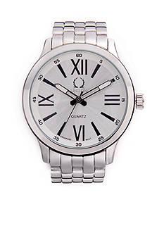 Legion Men's Round Silver-Tone Link Watch