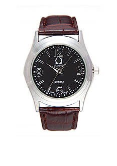 Legion Brown Pu Leather Strap Watch