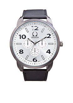 Legion Imitation Leather Chrono Watch