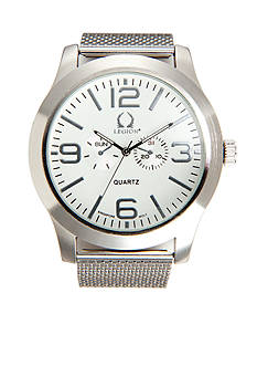 Legion Men's Silver-Tone Mesh Watch