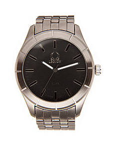 Legion Men's Gunmetal Link Black Dial Watch