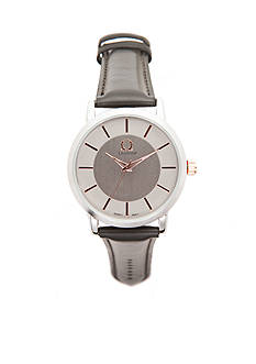 Legion Men's Rose Gold-Tone with Grey Strap Watch