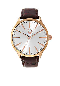Legion Men's Brown and Rose Gold-Tone Chronograph Watch