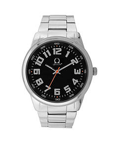 Legion Men's Silver-Tone and Gunmetal Watch