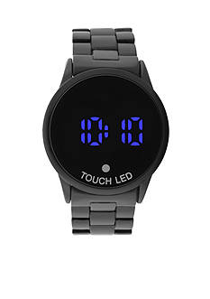 Legion Men's Gunmetal LED Smart Watch