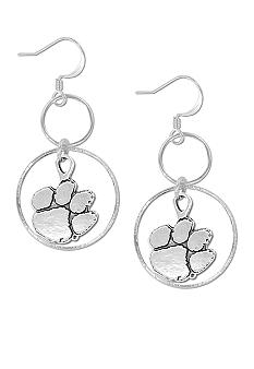 Legacy Clemson Silver Hoop Earrings