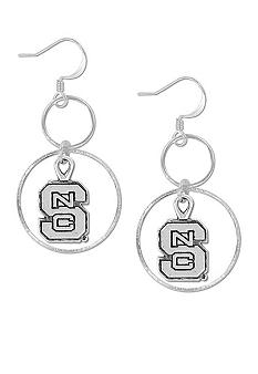 Legacy North Carolina State Silver Hoop Earrings
