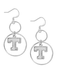 Legacy Tennessee Silver Hoop Earrings