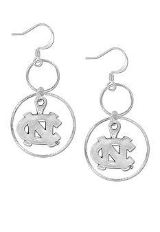 Legacy University of North Carolina Silver Hoop Earrings