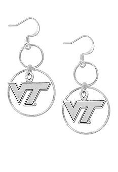 Legacy Virginia Tech Silver Hoop Earrings