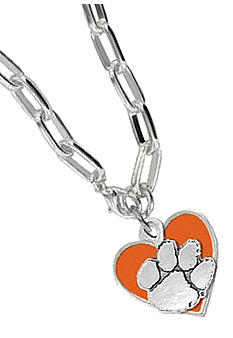 Legacy Clemson Link Toggle Necklace