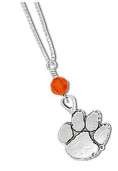 Legacy Clemson Crystal Drop Necklace