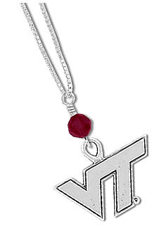 Legacy Virginia Tech Crystal Drop Necklace