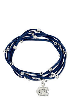 Legacy University of North Carolina Navy Rhinestone Suede Strap Bracelet