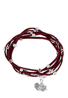 Legacy University of South Carolina Rhinestone Suede Strap Bracelet