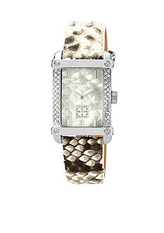 Vince Camuto Python Printed Strap Watch
