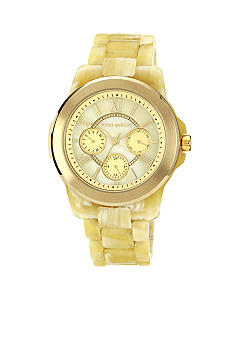 Vince Camuto Gold Tone Horn Plastic Watch