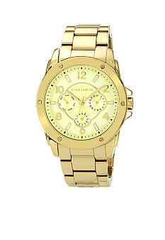 Vince Camuto Gold Tone Bracelet Watch With Sub-dial Function