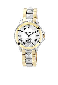 Vince Camuto Ceramic Bracelet Watch with Crystal Bezel