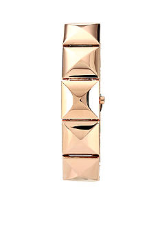 Vince Camuto Rose Gold Pyramid Link Watch