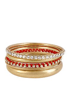 CYNTHIA Cynthia Rowley Red Bangle Set