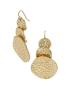 CYNTHIA Cynthia Rowley Gold Disc Drop Earrings