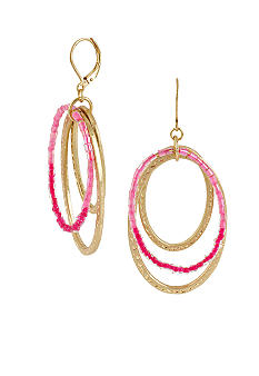 CYNTHIA Cynthia Rowley Pink Worn Gold Drop Earrings