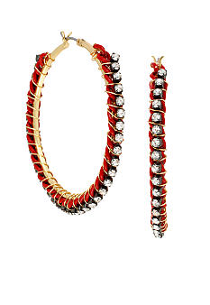 CYNTHIA Cynthia Rowley Red Wrap Hoop Earrings