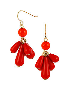 CYNTHIA Cynthia Rowley Red Drop Earrings