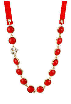 CYNTHIA Cynthia Rowley Red Bezel Necklace