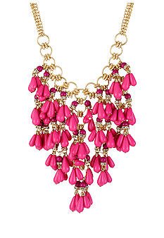CYNTHIA Cynthia Rowley Pink Tear Drop Statement Necklace