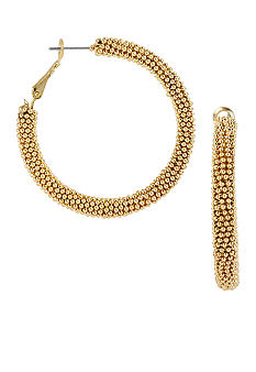 CYNTHIA Cynthia Rowley Worn Gold Hoop Earrings