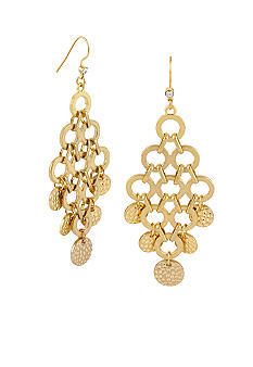 CYNTHIA Cynthia Rowley Worn Gold Chandelier Earrings