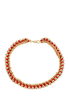 CYNTHIA Cynthia Rowley Red Wrap Necklace