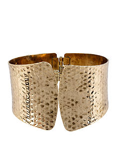 CYNTHIA Cynthia Rowley Gold Sculptural Hinged Bangle Bracelet