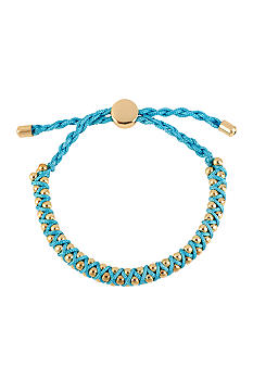 CYNTHIA Cynthia Rowley Blue & Gold Friendship Bracelet