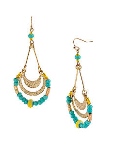CYNTHIA Cynthia Rowley Turquoise & Gold Chandelier Earrings