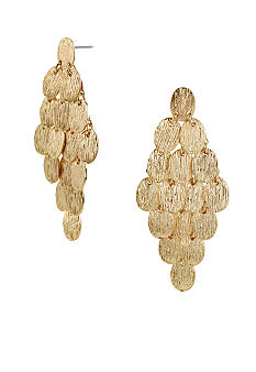 CYNTHIA Cynthia Rowley Textured Oval Chandelier Earring