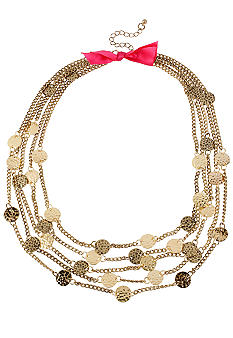 CYNTHIA Cynthia Rowley Gold Disc Multi Chain Necklace