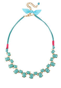 CYNTHIA Cynthia Rowley Turquoise Bead Frontal Necklace
