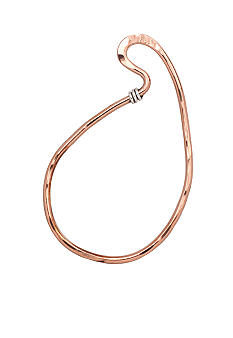 aakofii Ameba Shaped Copper & Fine Silver Bangle