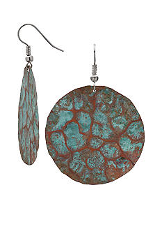 aakofii Handcrafted Copper Patina Earrings