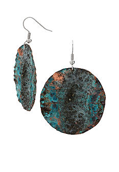 aakofii The Designer Handcrafted Copper & Pyrite Patina Earrings