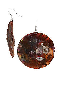 aakofii Fine Silver Copper Earrings