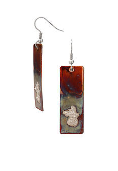 aakofii The Designer Oxidized Copper & Fine Silver Earrings