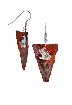 aakofii Handcrafted Oxidized Copper & Fine Silver Earrings