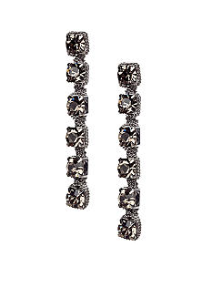 ABS by Allen Schwartz Rhinestone Linear Earrings